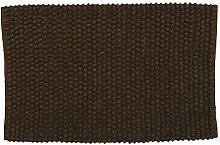 MSV 141383 Badematte aus Baumwolle, braun