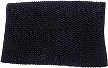 MSV 141388 Badematte aus Baumwolle, schwarz
