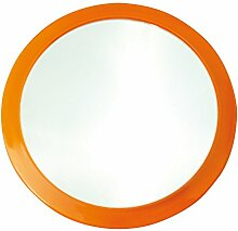 MSV 141406Kosmetikspiegel mit Saugnapf Metall orange 15x 15x 3cm