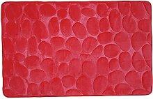 MSV 2108402Galets Badteppich Rot, rot, 50 x 80 cm