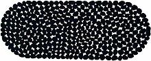 MSV 2108478Teppich Pebbles, Badewanne schwarz