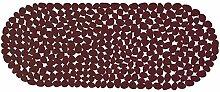 MSV 2108479Teppich Pebbles, Badewanne braun