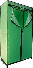 MSV 262 Kleiderschrank, grün/schwarz, B90 x T46 x