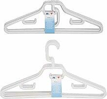MSV 2944Stück Kleiderbügel Einklappbare Polypropylen weiß 43x 0,1x 0,1cm