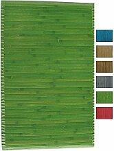 MSV Badematte Badvorleger Bambus 60x90 Grün