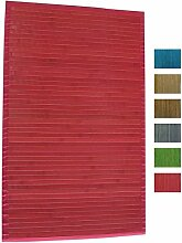 MSV Badematte Badvorleger Bambus 60x90 ro