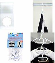MSV Kleiderbügel / Kleiderhaken Organizer - Ordnung und Platz im Kleiderschrank - Aufhänger Set aus 12 Stück