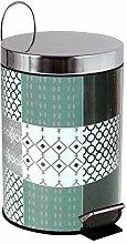 MSV Kosmetikeimer Ceramique Grau Mülleimer