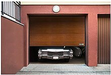 MSW Sectional Door GD3000 golden oak (3.000 x 2.125 mm, Rails and side hinges from galvanized steel)