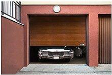 MSW Sectional Garage Door GD2500 golden oak (2.500 x 2.125 mm, Rails and side hinges from galvanized steel)