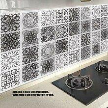 MTG Fliesenaufkleber Schwarz-Weiß-Muster Küche