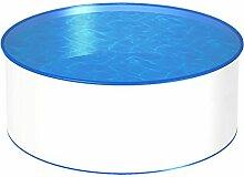 MTH Schwimmbecken, rund, 3,50m, Tiefenauswahl, 0,7mm Stahlwand, Folie mit Keilbiese-1,35m