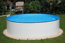 MTH Schwimmbecken, rund, 3,50m x 1,20m 0,6mm Stahlwand, Folie (0,8mm) mit Keilbiese