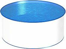 MTH Schwimmbecken, rund, 4,00m, Tiefenauswahl, 0,8mm Stahlwand, Folie mit Keilbiese-1,50m
