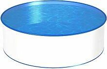 MTH Schwimmbecken, rund, 4,20m, Tiefenauswahl, 0,6mm Stahlwand, Folie mit Keilbiese-1,20m