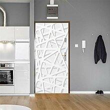 MTHZNN 3D-Aufkleber für Innentüren, einfache