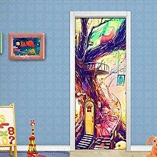 MTHZNN 3D-Aufkleber für Innentüren, Farbe