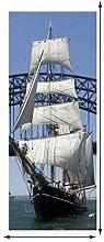 MTHZNN 3D-Aufkleber für Innentüren, Segelschiff,