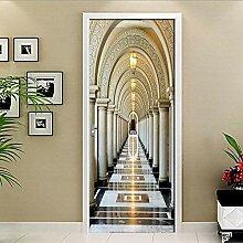 MTHZNN 3D-Tür-Aufkleber für Innenraum, Gebäude,