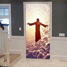 MTHZNN 3D-Tür-Aufkleber für Innenraum, Himmel,