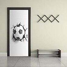 MTHZNN 3D-Tür-Aufkleber für Innenwand, Fußball,