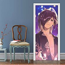 MTHZNN 3D Tür Fototapete Aufkleber Folie Poster -