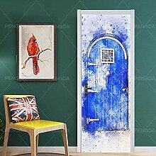 MTHZNN 3D Tür Fototapete Aufkleber Folie Poster