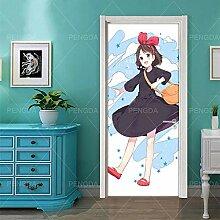 MTHZNN 3D-Tür-Wandbild, Naturkunst-Aufkleber,