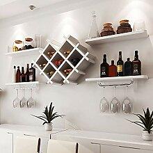 MTX Ltd Weinregal Halter Große Holz 8 Flaschen
