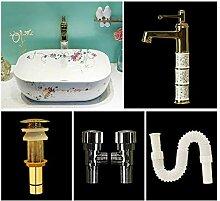 MU Haushalt Waschbecken, Wasserhahn, Keramik,