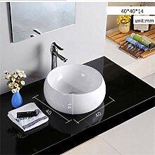 MU Haushalts Waschbecken, Keramik, Weiße, runde