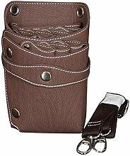 Muate Leder-Frisur Schere Werkzeuge Clips Tasche