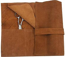 Muate Leder Haarscheren Taschen Lange Maniküre