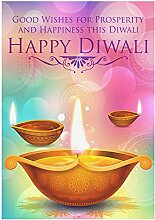 Muccum Diwali brennende Kerze Öllampe Polyester