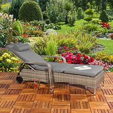 Mucola - Gartenliege Sonnenliege Liegestuhl