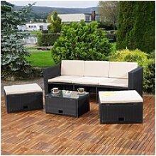 Mucola Gartenmöbelset Polyrattan Lounge
