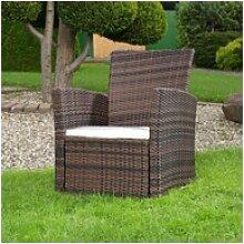 Mucola Gartensessel Lounge Sessel aus Poly Rattan
