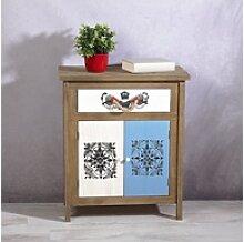 Mucola Kommode Used Look Sideboard braun weiß