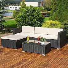 Mucola - Lounge Gartengarnitur Sofa Tisch Kissen