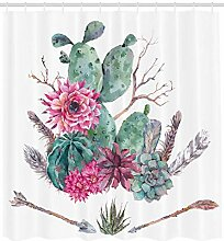 Mucuum Cactus Decor Duschvorhang Exotic Natural