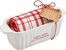 Mud Pie Slice Holiday Mini-Bäcker-Set, 5,1 x 17,8