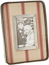 Mud Pie Vintage Bilderrahmen, gestreift, 10 x 15