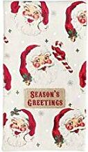 MUDPIE Handtuch mit Motiv Santa Heads