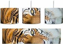 müder Tiger schwarz/weiß inkl. Lampenfassung