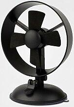 Mühle Ventilator Desktop Auto zwei starke Suction-Security maximale Wind Power USB Mini Ventilator Schwarz