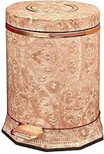 Müll Stamm rosa Muster Mülleimer, Retro-Stil