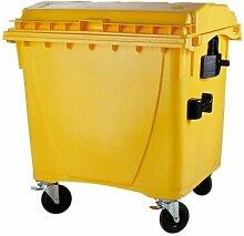 Müllcontainer | Volumen 1100 Liter | Gelb