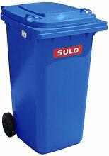Mülleimer, 2Rollen, Container Mülleimer SULO 240Liter, Blau (22066)