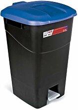 Mülleimer 60 Liter mit Pedal schwarz und Deckel