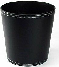 Mülleimer Abfalleimer Mülleimer Desktop MülleimerBin Bürobedarf Mülleimer Material Leder Größe 24.5 * 20.28cm